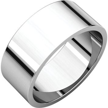 Palladium 8mm Flat Wedding Band Ring - Bridal Jewelry