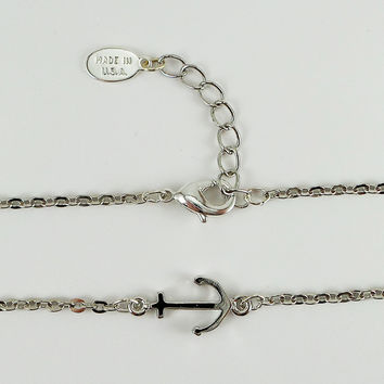 Ankle Bracelet with Anchor and Made in USA Tag
