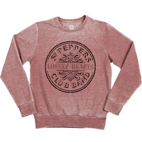 Beatles Men's  Sgt. Pepper Sweatshirt Maroon Rockabilia