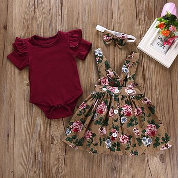 Casual Clothing Set Overalls Skirt