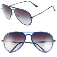 Women's Ray-Ban 'TECH Light-Ray' 56mm Aviator Sunglasses