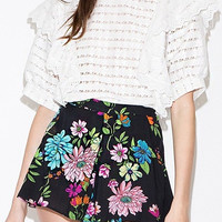 Floral Flare Shorts