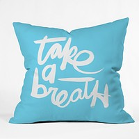 Kal Barteski Take Blue Throw Pillow