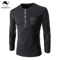 Men's Casual Button Long Sleeve Shirt