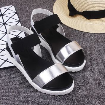 Weweya 2017 New Gladiator Women shoes Roman sandals shoes Women sandals peep-toe flat Shoes woman sandalias mujer sandalias