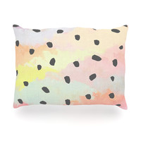 "Strawberringo ""With Dots"" Pastel Painting Oblong Pillow"