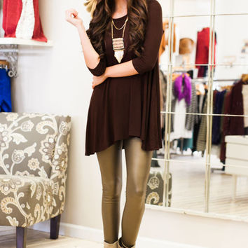 Dark Chocolate for Two Brown Tunic