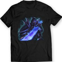 Undead Rogue Blue Dagger T-Shirt World of Warcraft Black Tee