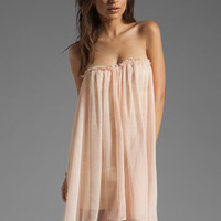 BLAQUE LABEL Strapless Mini Dress in Light Pink from REVOLVEclothing.com