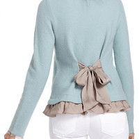 Ruffled Duster Sweater