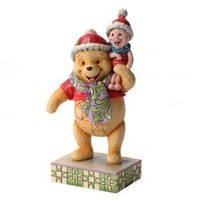 Enesco Disney Traditions by Jim Shore Christmas Pooh and Piglet Figurine, 7-3/4-Inch