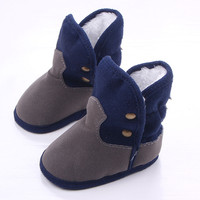 Winter Warm Baby Boots Soft Plush Lining Baby Girl Shoes Anti Slip Newborn Shoes