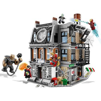Super Heroes Sanctum Sanctorum Showdow Avengers Infinity War Building Block Set Movie Classic Kids Toys Marvel Compatible Legoe