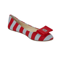 Ohio State Buckeyes LillyBee U Womens Removable Bow Flats