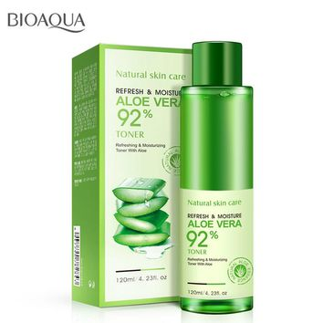 BIOAQUA Aloe Vera Smoothing Face Toner Cream Oil Control Pores Brightens Face Skin Care Repairing Moisturizing Remove Acne
