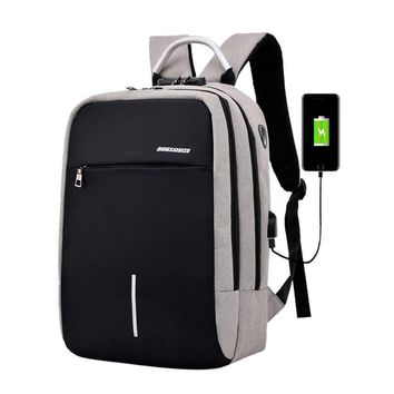 Multi-functional Backpack Reflective Tape High-capacity Laptop Bag with USB L327