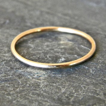 Gold Thumb Ring - Gold Filled Stacking Ring - Gold Stacking Rings - Womens Rings -  Womens Thumb Ring - Midi Ring - Knuckle Ring - Stackable