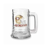 San Francisco 49ers 15oz Glass Tankard - Etching Personalized Gift Item