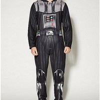 Star Wars Darth Vader Adult Hooded Onesuit Pajamas - Spencer's