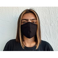 All Black Face Mask | Sustainable and Reusable
