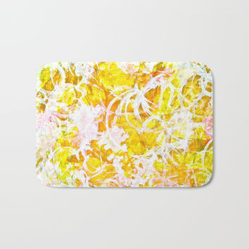 Golden Shine Bath Mat by GittaG74