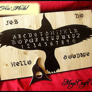 Ouija Board various model with planchette CUSTOMIZABLE - hand painting - wicca exorcism witch magic - 11.82x15.76 inches (30x40 cm)