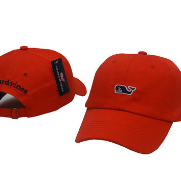 Red VINEYARD VINES Embroidered Baseball Cap Hat
