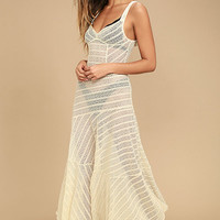 Free People Love Story Cream Lace Slip Dress
