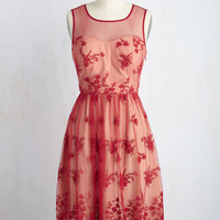 Cherished Charm Lace Dress in Red | Mod Retro Vintage Dresses | ModCloth.com