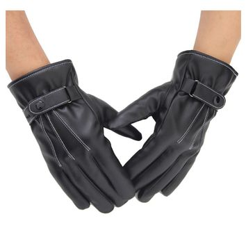 Women's Gloves Soft PU Timeless Touchscreen Texting Cashmere Lined Gloves