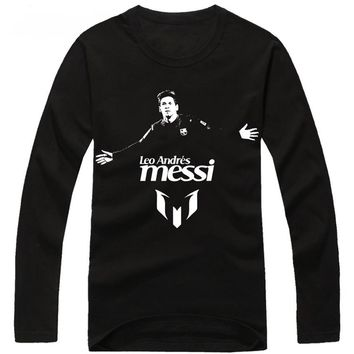 Lionel Messi men's long sleeve t-shirt survetement footbal compression shirt child bodybuilding t-shirt Tie-dye