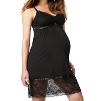 Black Nightfall Maternity & Nursing Nightgown - Women