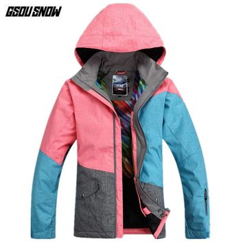 GSOU SNOW Brand Ski Jackets Women Snowboarding Jackets Waterproof Breathable Windproof Skiing Clothes Winter Outdoor Sport Coats