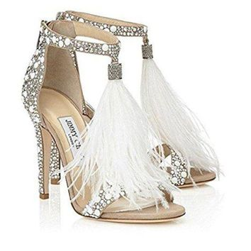 JIMMY CHOO Womens Viola 110 Heeled Sandals