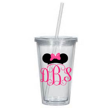 Custom 16 oz Minnie Mouse Acrylic Tumbler