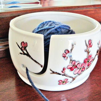 Hand Painted yarn bowl - Made to order