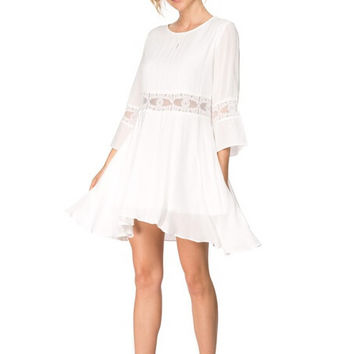 3/4 Sleeve Lace Patchwork Dress