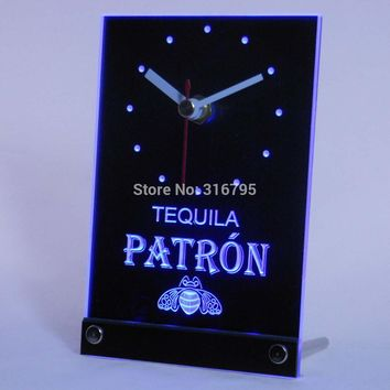 tnc0114 Tequila Patron Beer 3D LED Table Desk Clock