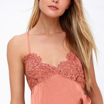 Free People Sweetie Pie Bodysuit Copper