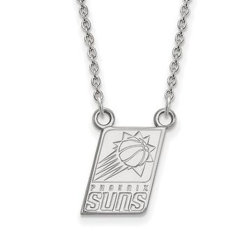 NBA Phoenix Suns Sm Pendant Necklace in 14k White Gold - 18 Inch