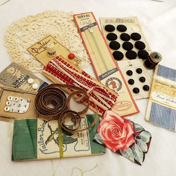 Vintage Sewing Notions Ephemera Instant Collection