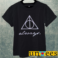 The Deathly Hallows Logo Always Men T Shirt