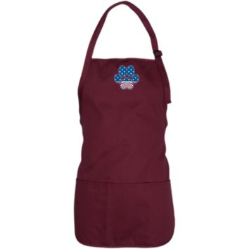 Paw Print Horizon Medium Length Apron