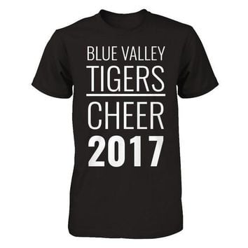 CREYM83 Blue Valley Tiger's Cheerleading T-shirt