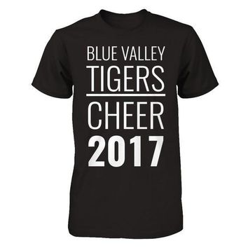 CREYDP2 Blue Valley Tiger's Cheerleading T-shirt
