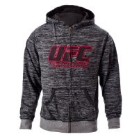 UFC Men's Black/Gray Twisted Zip Up Hoodie (Small)