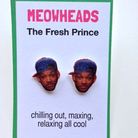Fresh Prince of Bel Air Will Smith stud earrings