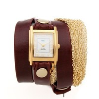 La Mer Collections Rio Gold Chain Wrap Watch | SHOPBOP