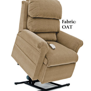 Pride Elegance Collection Full Recline Power Lift Chair, Oat Tan LC-470M