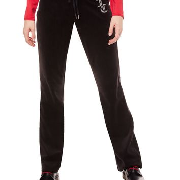JC LUXE CRYSTALS VELOUR DEL REY PANT
